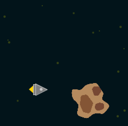 The 2D-Rocket is very pixelated without the pixel density being adjusted.
